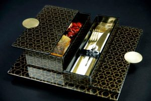 luxurious hotel plate cover