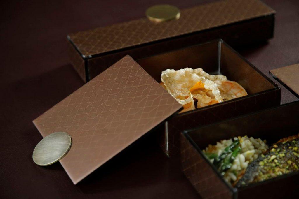 Modern bento box brown
