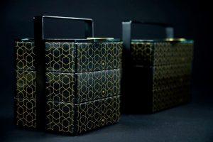black picnic baskets