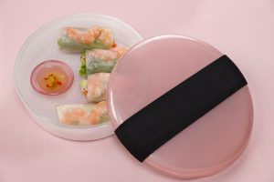 Modern Appetizer Plates and Lunchbox in pink